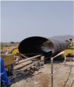 Cement Mortor Lining to inner side of pipe. - Cement Mortor Lining to inner side of pipe.